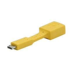 Redukcja usb 2.0 micro, usb micro  m- usb a f, 0m, żółta