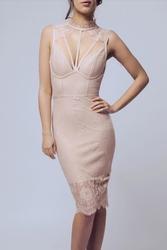 Soky soka  sukienka róż 56003-2
