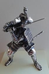 Ronin - srebrna figurka japońskiego wojownika