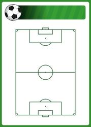 Tablica suchościeralna boisko do piłki nożnej 398