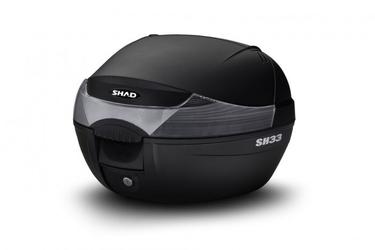 Kufer centralny shad sh33 czarny białe odblaski