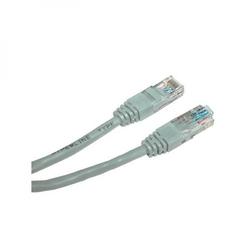 UTP patchcord UTP patchcord, Cat.5e, RJ45 M-15m, nieekranowany, krzyżowy, szary, Logo, blistr, do połączenia 2 PC