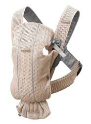 Babybjorn mini 3d mesh – nosidełko, perłowy różowy - perłowy różowy 3d mesh