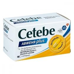 Cetebe abwehr plus witamina c+d3+cynk kapsułki