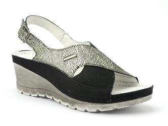 Sandały  pollonus 5-0987-012 czarny+srebrny