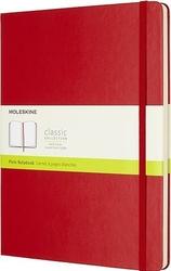 Notes moleskine w twardej oprawie xl czerwony w linie