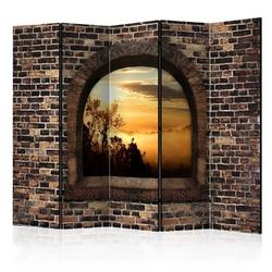 Parawan 5-częściowy - kamienne okno: poranna mgła ii room dividers