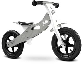 Toyz velo grey drewniany rowerek biegowy pompowane koła + prezent 3d