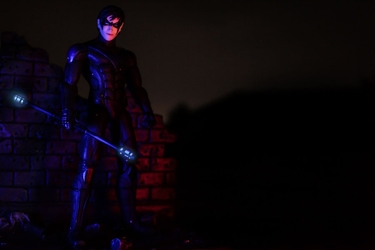 Batman arkham city - nightwing - plakat wymiar do wyboru: 50x40 cm