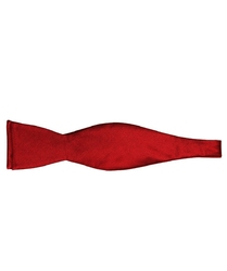 Czerwona mucha jedwabna wiązana- skośny splot
