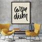 Carpe diem - plakat designerski , wymiary - 60cm x 90cm, kolor ramki - czarny
