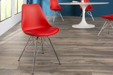 Krzesło do jadalni jakob nowoczesne czerwone