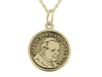 Medalik z żółtego złota wec-z-med-jp-ii-6