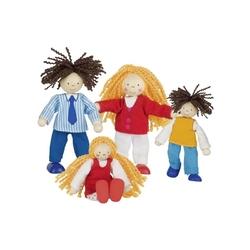 Nowoczesna rodzinka drewniane laleczki