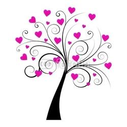 Obraz na płótnie canvas czteroczęściowy tetraptyk kochać drzewo