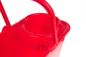 Bentom wiadro prostokątne z wyciskaczem 12 l - czerwone