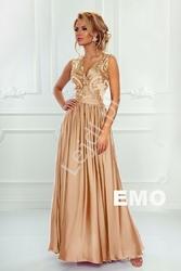 Długa suknia wieczorowa w kolorze ciemnego złota - juliette