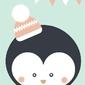 Pingwinek  - plakat wymiar do wyboru: 60x80 cm