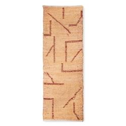 Hkliving ręcznie tkany bawełniany chodnik, brzoskwiniamocha 70x200 ttk3067