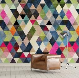 Triangle art - tapeta na ścianę , rodzaj - tapeta flizelinowa laminowana