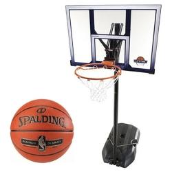 Zestaw kosz do koszykówki lifetime boston 90001 + piłka spalding platinum zk legacy indoor
