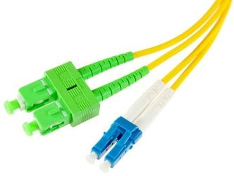Patchcord światłowodowy sm 1m duplex 9125, scapc-lcupc 3mm - szybka dostawa lub możliwość odbioru w 39 miastach