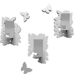 Wieszaki ścienne dekoracyjne Butterflies CalleaDesign białe 50-13-4-1