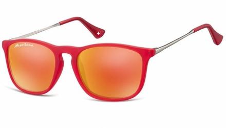 Okulary dziecięce nerdy unisex lustrzanki matowe cs72b
