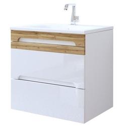 Szafka łazienkowa z umywalką mona 80 cm biała
