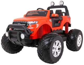Ford ranger monster 4x4 pomarańczowy duży samochód na akumulator + pilot