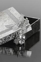 Naszyjnik  kryształowa koniczynka   biżuteria czterolistna  koniczynka