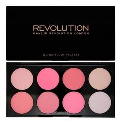 Makeup revolution ultra blush palette 8 zestaw róży do policzków all about pink 13g