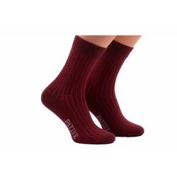Męskie bordowe skarpety w paski patine socks