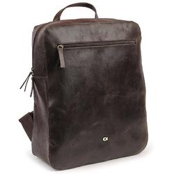 Skórzany męski plecak daag jazzy wanted 99 ciemny brąz - ciemny brązowy