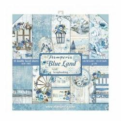 Zestaw papierów do scrapbookingu 30,5x30,5 cm BLUE LAND