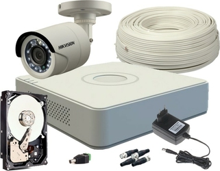 Zestaw hd-tvi 1 x kamera fullhd, rejestrator 4ch + dysk 500gb - szybka dostawa lub możliwość odbioru w 39 miastach