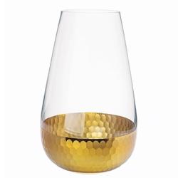 Wazon szklany na kwiaty altom design golden honey 25 cm