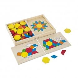 Układanka mozaika drewniana w pudełku