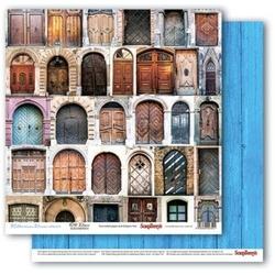Papier 30x30cm MEDITERRANEAN DREAMS-Old Doors - 03