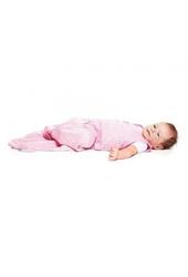 Śpiworek bawełniany wallaboo 6-12m - różowy