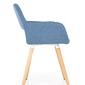 Krzesło z podłokietnikami selena niebieski