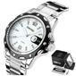 Zegarek męski srebrny skmei 0992 datownik biały - white