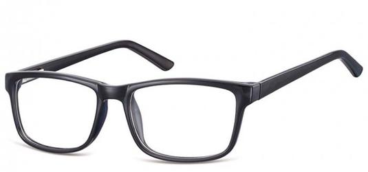Okulary zerówki klasyczne oprawki sunoptic cp155 czarne