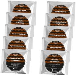 Świąteczna torebka z kawami smakowymi coffee mood - 10 wyjątkowych smaków kaw aromatyzowanych pakowanych po 10g