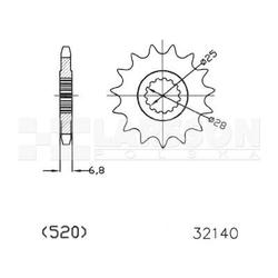 Zębatka przednia jt 50-32140-14, 14z, rozmiar 520 2200645 yamaha yfm 700