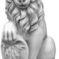 Figura ogrodowa betonowa lew 55cm