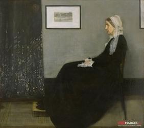 matka whistlera aranżacja w szarości i czerni nr 1  - matka artysty - james mcneill whistler ; obraz - reprodukcja