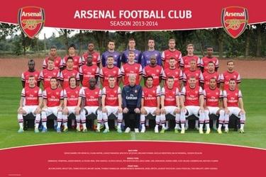 Arsenal f.c. zdjęcie drużynowe 1314 - plakat