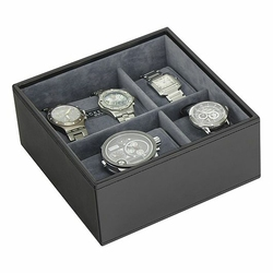 Pudełko na zegarki Stackers kwadratowe szare