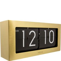 Zegar stołowy Big Flip Nextime złoty 5198 GO